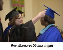 Rev. Margaret Obama (right)