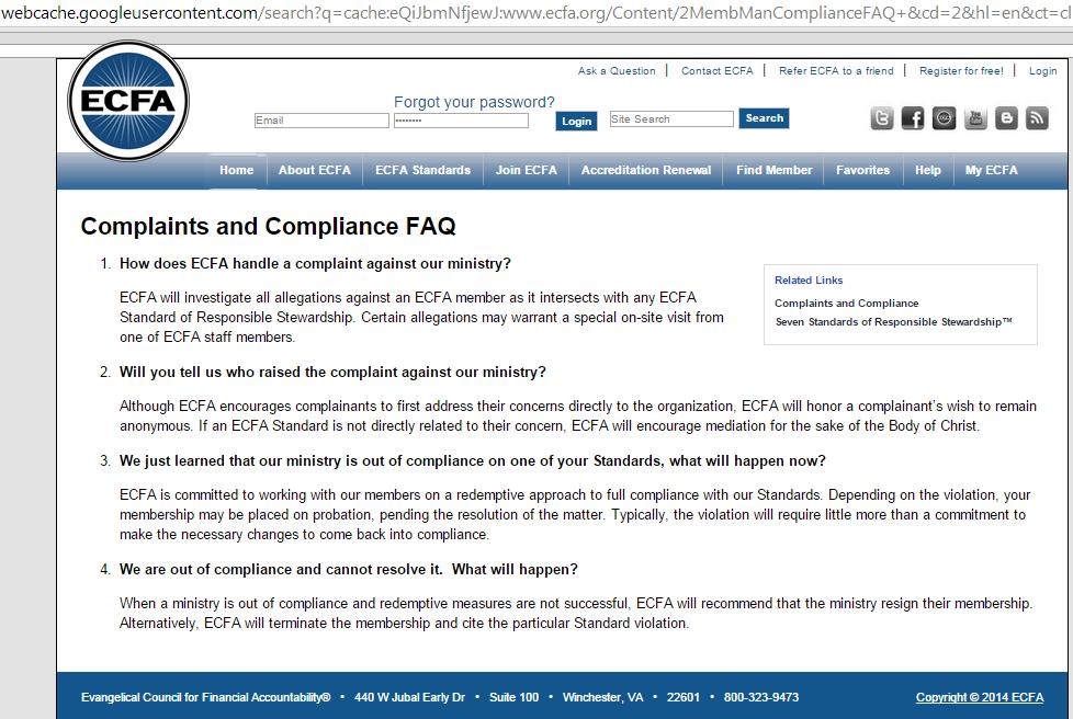 ecfacomplaintsFAQ