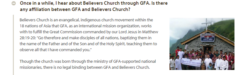 believers church legal GFA