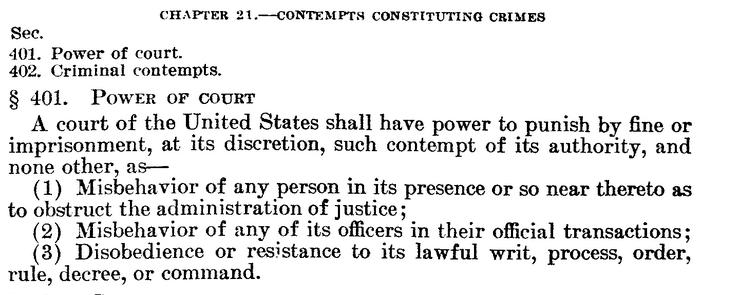 contempt statute 1948