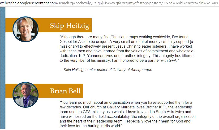 GFA pastors endorsements