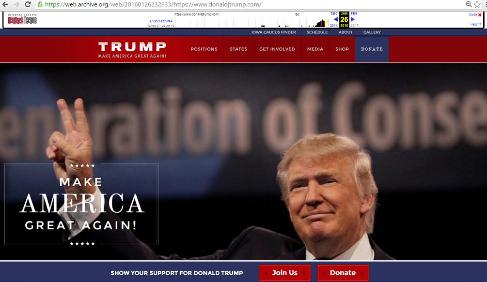 trump donate campaign