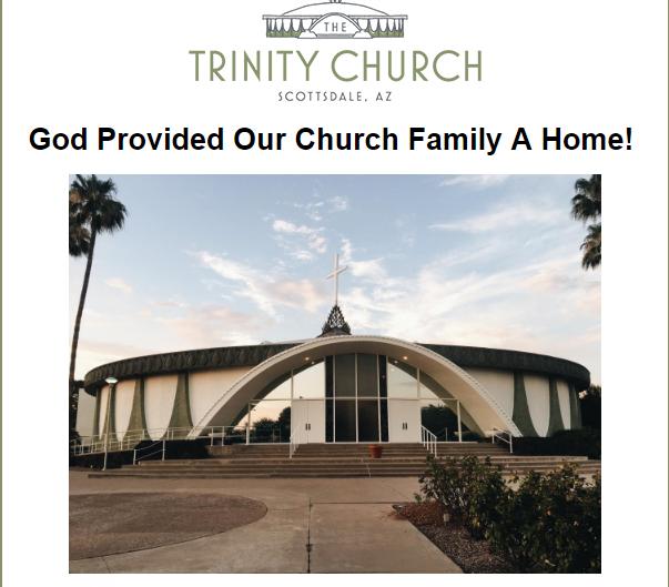 trinity church announcement