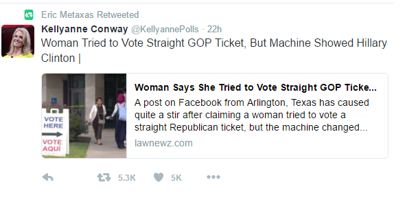 Metaxas retweet voting booth