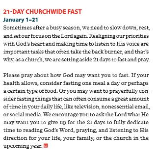 GW 21 day fast 2