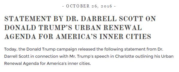 Trump Dr. Darrell Scott