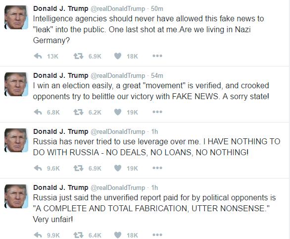 Trump Russia Tweetstorm