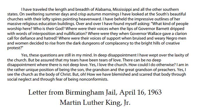 Birmingham Jail MLK
