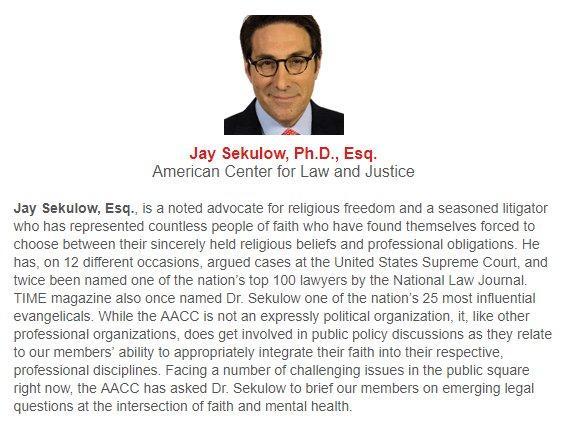 Sekulow AACC bio 2