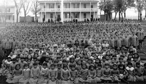 Indian school, Carlisle PA. Public domain