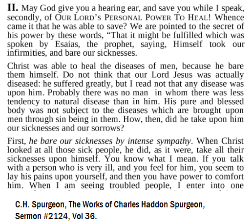 Spurgeon on sickness