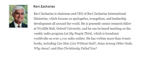 Ravi Zacharias bio ligonier