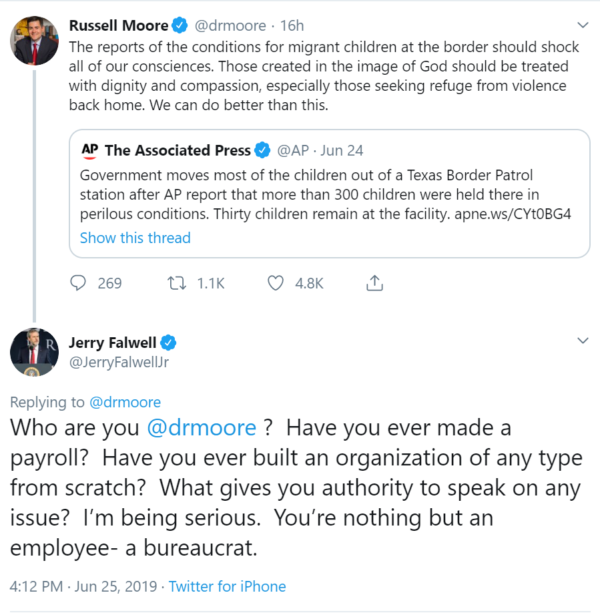 Jerry Falwell, Jr. Slams Russell Moore on Treatment of Refugees