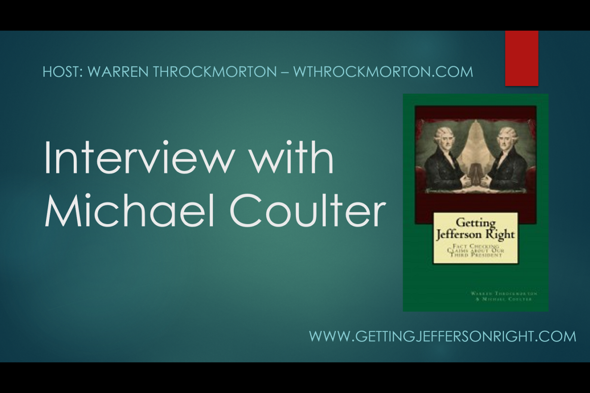 Blog Theme: Getting History Right – Interview with Michael Coulter