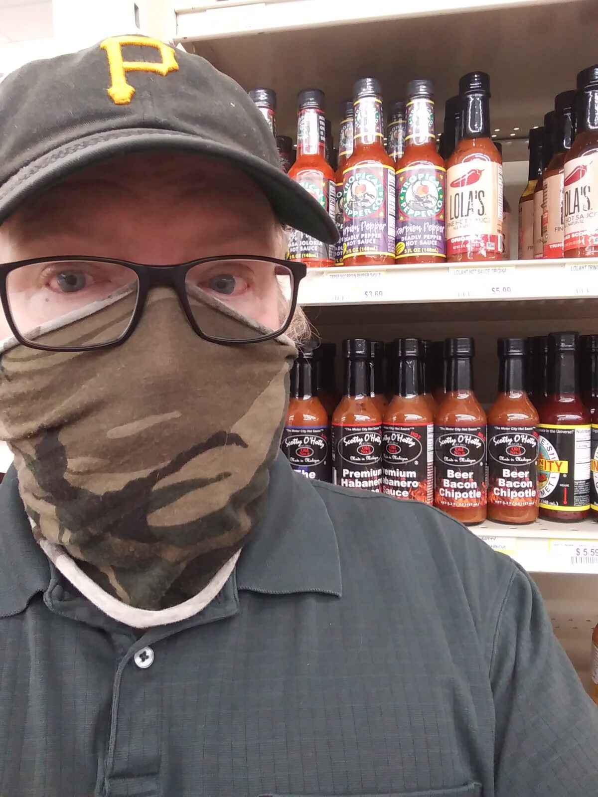 Local Man Survives Shopping Trip While Wearing Mask