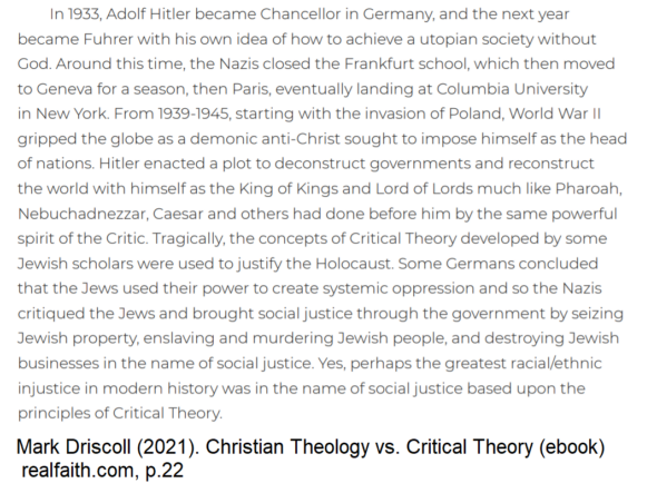 Mark Driscoll's Christian Theology v. Critical Theory is Awful and Needs Footnotes